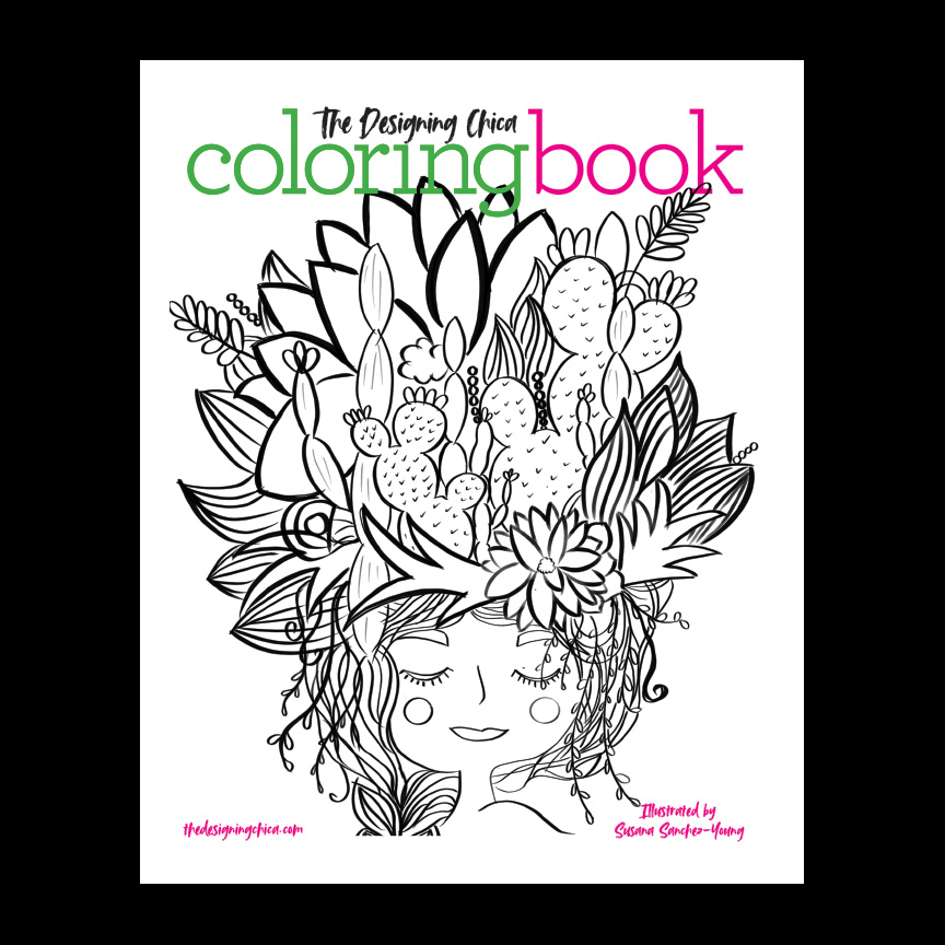 The Designing Chica Coloring Book